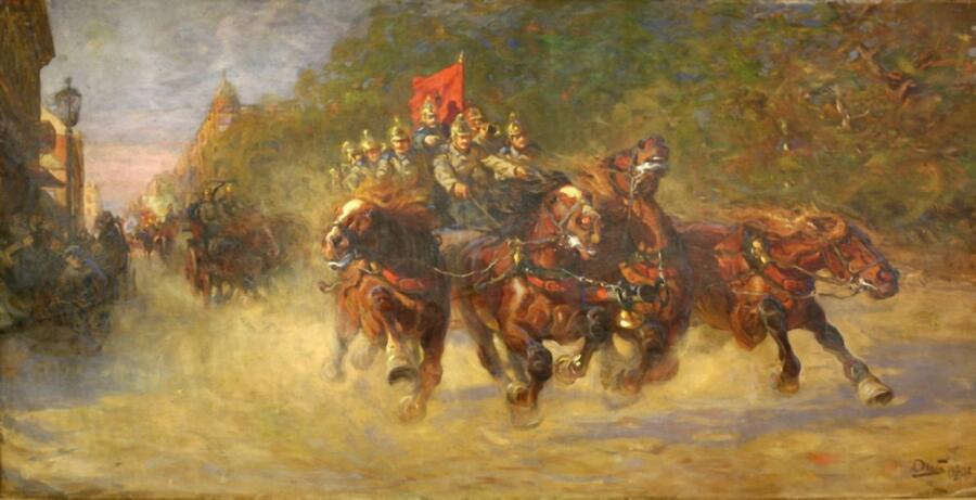А. К. Жаба, «На пожар», 1907 г.
