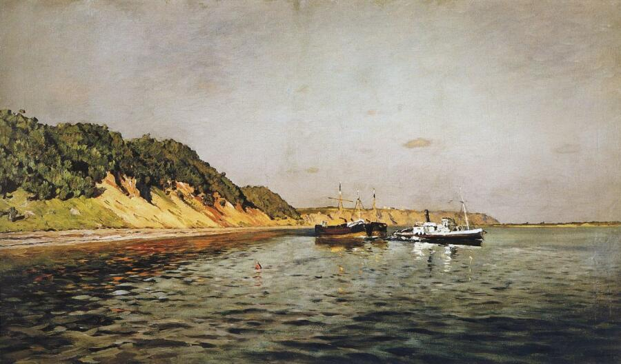 И. И. Левитан, «Волга. Тихий день», 1895 г.