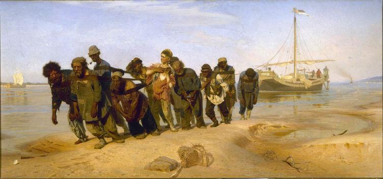 И. Е. Репин, «Бурлаки на Волге», 1872-1873 гг.