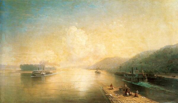 И. К. Айвазовский, «Волга у Жигулевских гор», 1887 г.
