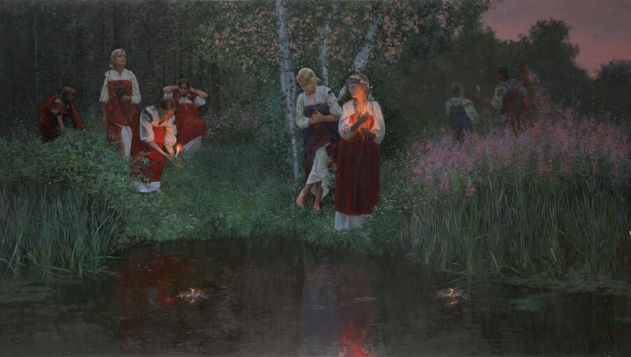 С. Кожин, «Иван Купала.Гадание на венках», 2008 г.<br />