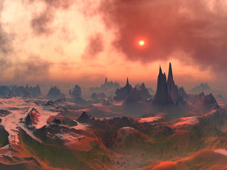 На Марсе красное небо