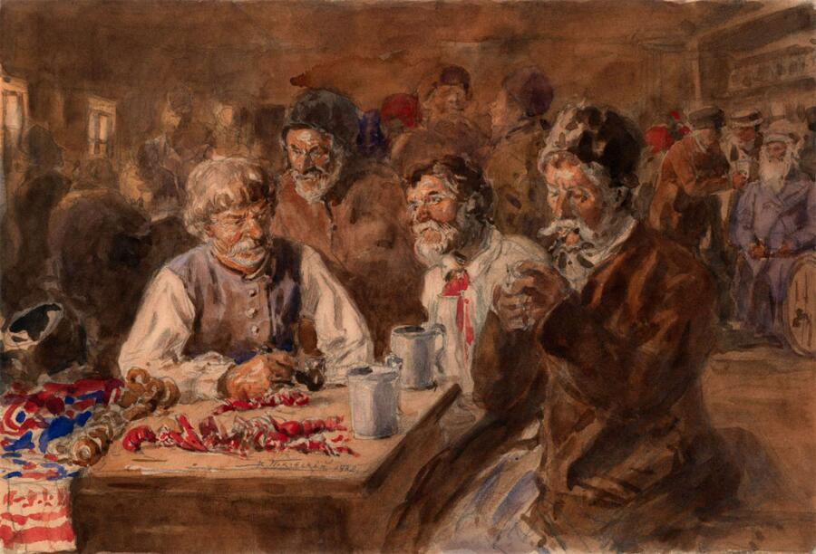 Картина В. Е. Маковского «Малороссы в кабаке»