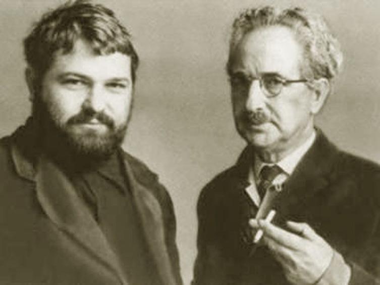 Ю. Семёнов с отцом