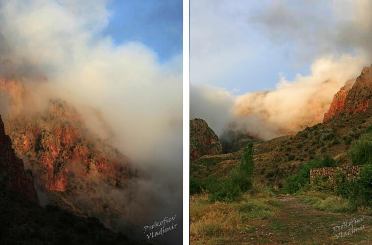 Дымящиеся угли скал Нораванка