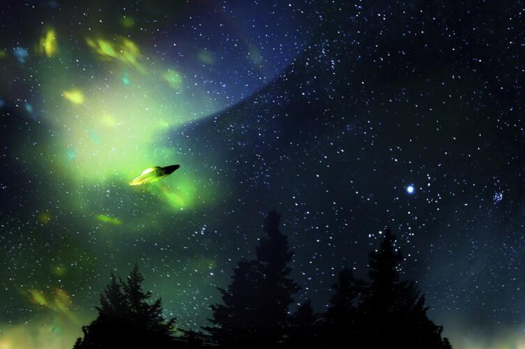 Нужно лишь уничтожить вокруг «влетающего» в искривленное пространство объекта гравитацию, чтобы мгновенно оказаться в другом месте Вселенной