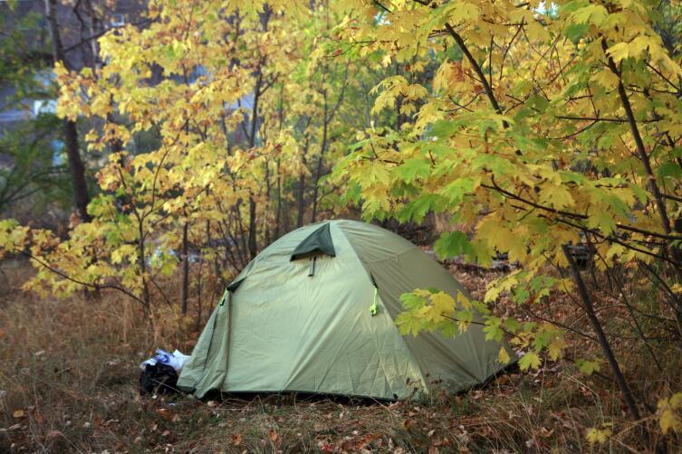 Наша палатка на берегу Севана