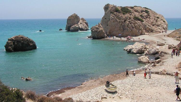 Легендарное место рождения Афродиты (Петра-ту-Ромиу) в Пафосе (Кипр)