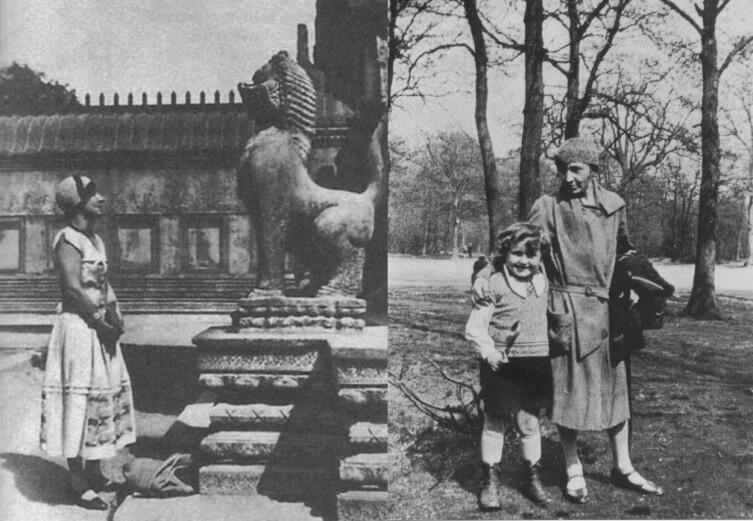 Марина Цветаева во Франции (справа с сыном Муром)