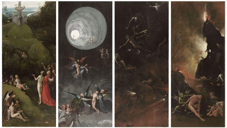 Иероним Босх, «Рай и Ад (Четыре видения загробного мира)», 1516 г.