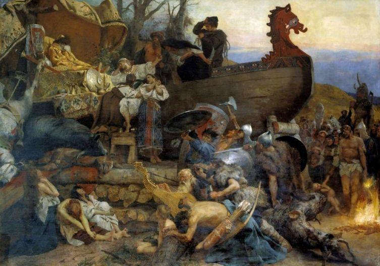 Г. И. Семирадский, «Похороны знатного руса в Булгаре», 1883 г.