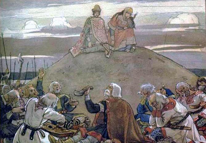 В. М. Васнецов, «Тризна по Олегу», 1899 г.