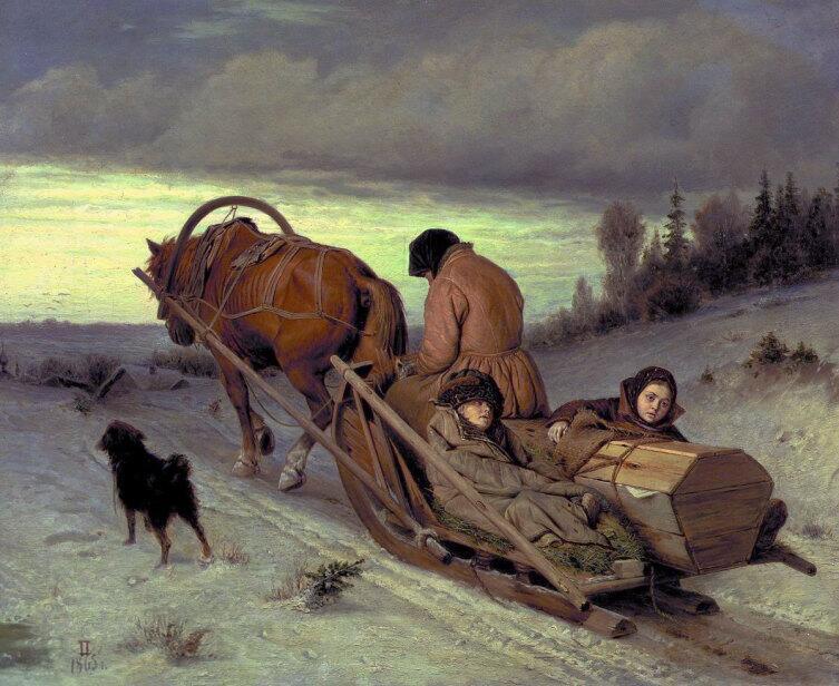 В. Г. Перов, «Проводы покойника», 1865 г.