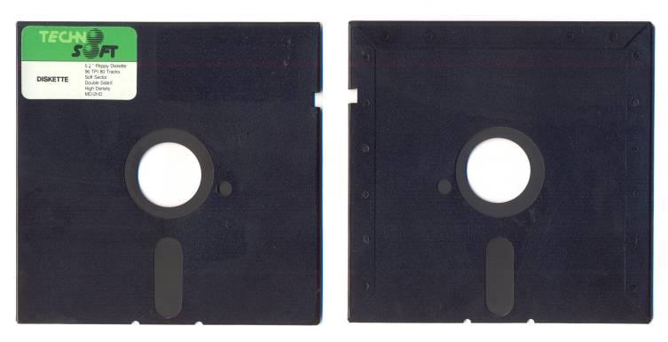 Для увеличения емкости дискеты вдвое надо было пробить в пакете симметрично большому отверстию еще одну маленькую дырочку. Голь на выдумки хитра