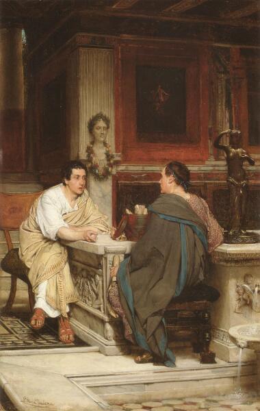 Лоуренс Альма-Тадема, «Беседа», 1865 г.