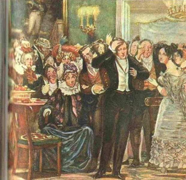 Иллюстрация к комедии А. С. Грибоедова