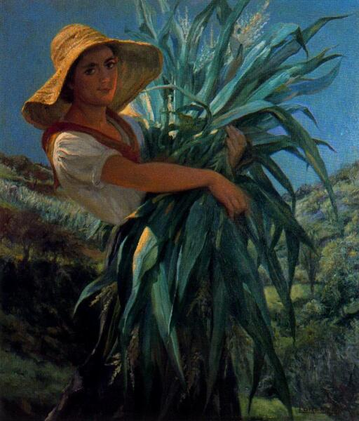 Сальвадор Диас Игнасио Руис де Олано, «Уборщица кукурузы»