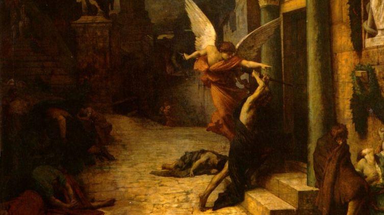 Жюль-Эли Делоне, «Чума в Риме»