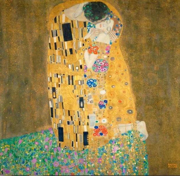 Картина «Поцелуй» Густава Климта