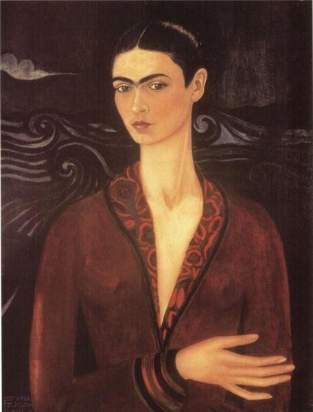 Фрида Кало, «Автопортрет в бархатном платье», 1926 г.