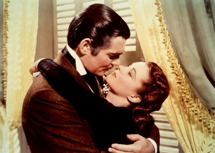 Поцелуй Ретта и Скарлетт