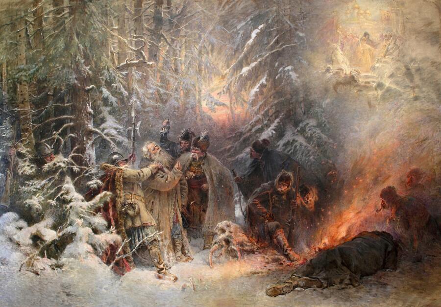 К. Е. Маковский, «Иван Сусанин», 1914 г.