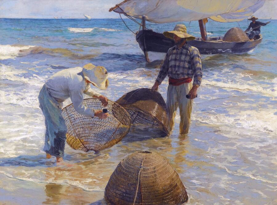 Хоакин Соролья (Соройя), «Рыбаки из Валенсии», 1895 г.
