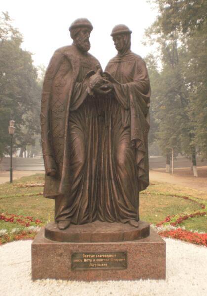 Памятник Петру и Февронии в Ярославле, скульптор Константин Чернявский