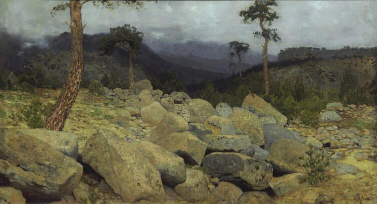 И. И. Левитан, «В крымских горах», 1886 г.