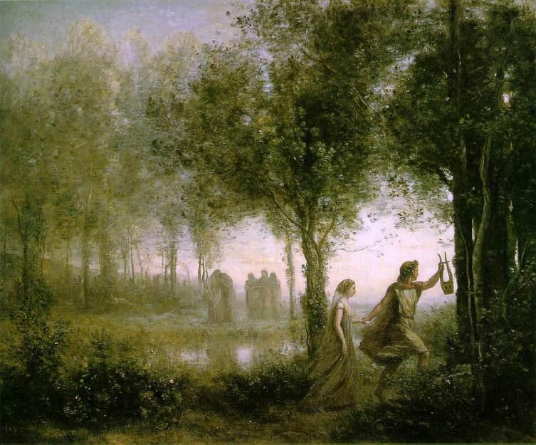 Камиль Коро, «Орфей, выводящий Эвридику из царства мёртвых»