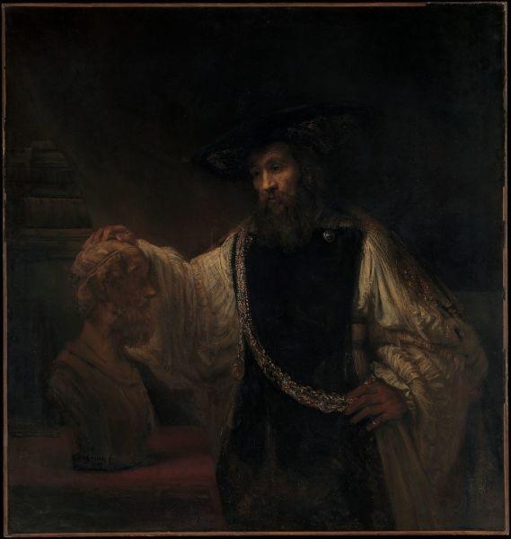 Рембрандт, «Аристотель перед бюстом Гомера», 1653 г.