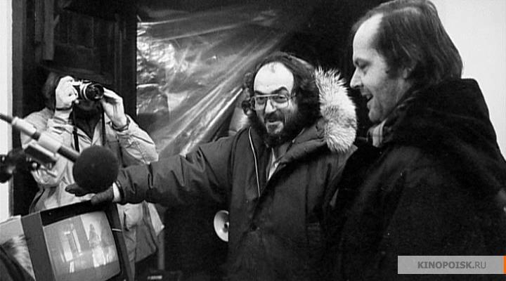 Стэнли Кубрик и Джек Николсон на съемках фильма