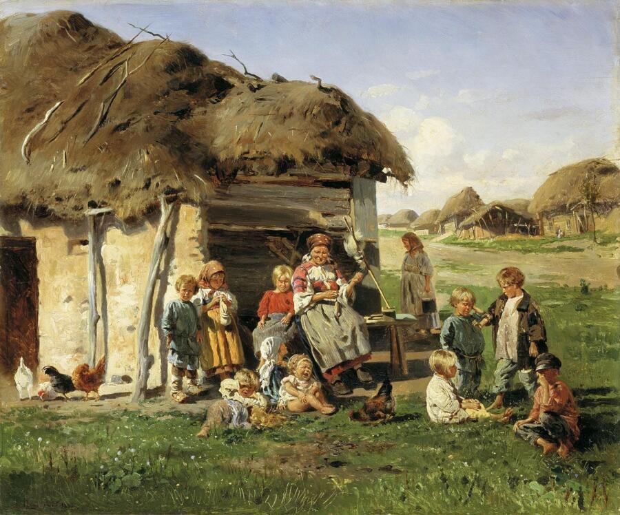 В. Е. Маковский, «Крестьянские дети», 1890 г.