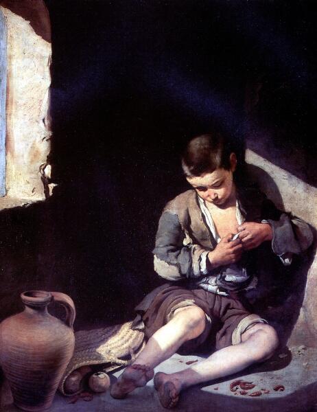 Бартоломе Эстебан Мурильо, «Маленький нищий (Вшивый)», 1650 г.