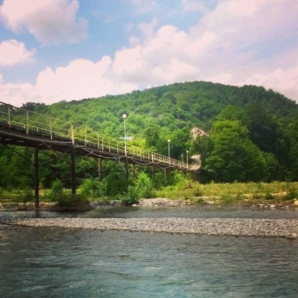 Мост через Шахе в Солох-Ауле