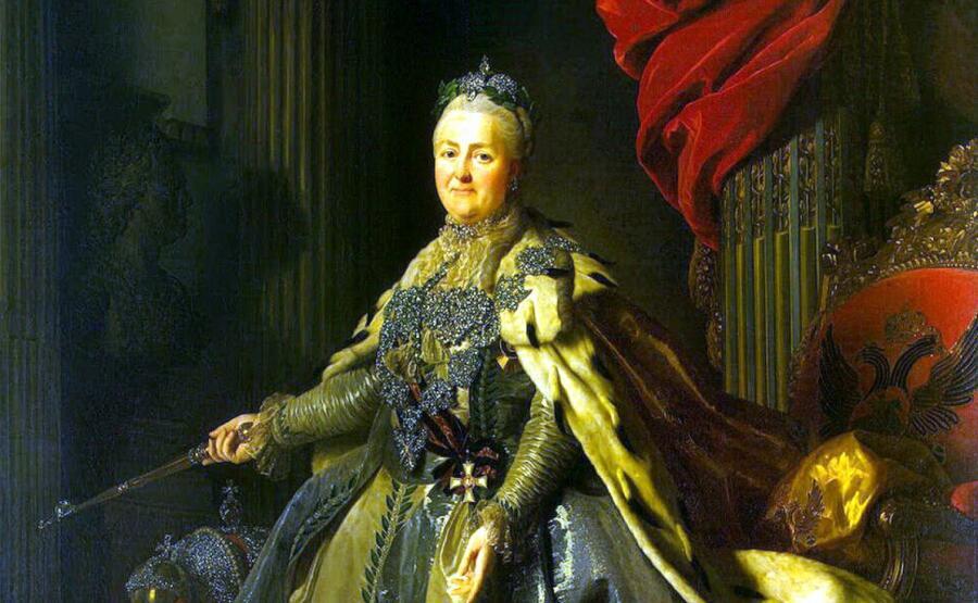 Александр Рослин, «Портрет Екатерины II», фрагмент