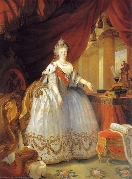 Луиза Виже Лебрен, «Портрет императрицы Марии Федоровны», 1799 г.