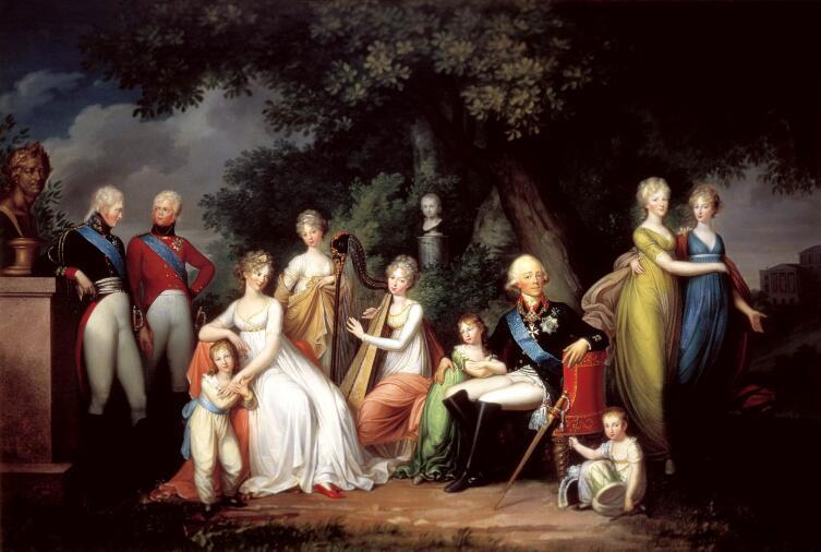 Герхард Франц фон Кюгельген, «Павел I, Мария Фёдоровна и их дети»