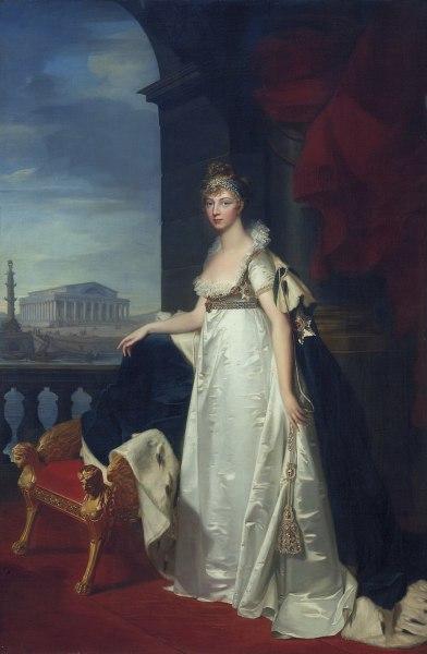Л. Ж. Монье, «Парадный портрет императрицы Елизаветы Алексеевны», 1805 г.