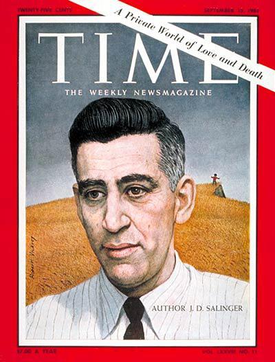 Сэлинджер на обложке журнала Time 15 сентября 1961 года