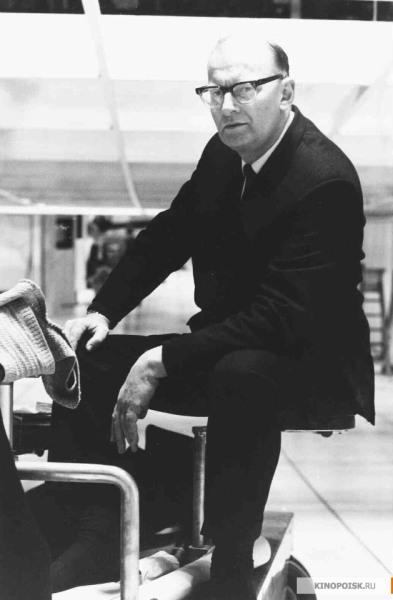Артур Кларк на съемках фильма «2001 год: Космическая одиссея»