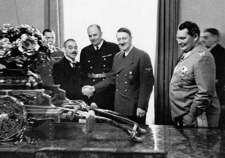 Рукопожатие. Гитлер и Мацуока, 28 марта 1941 г.