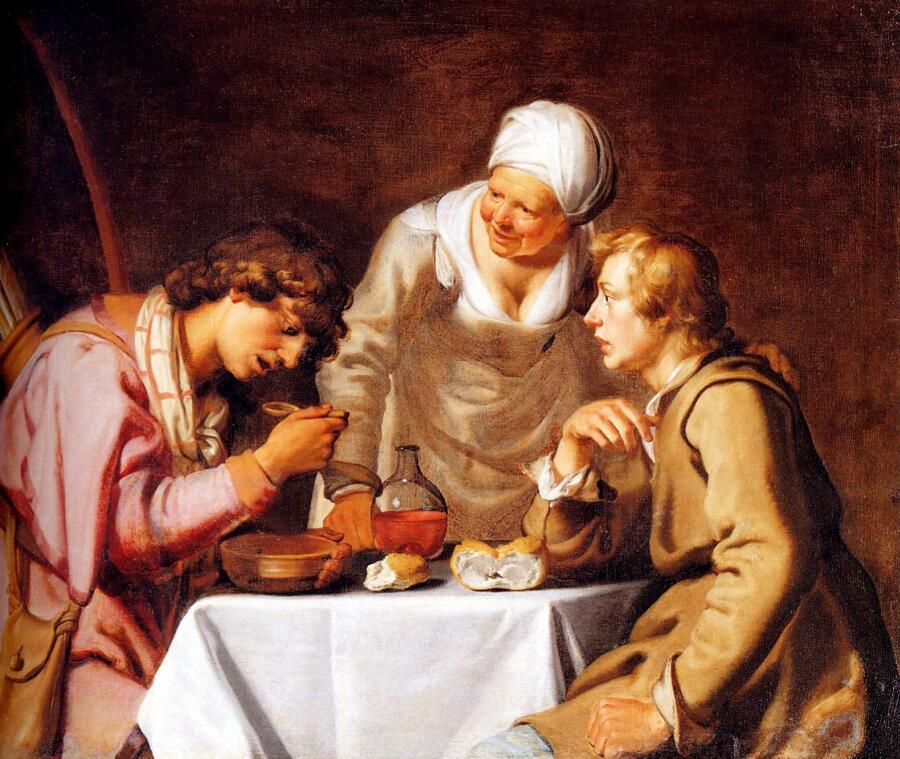 Якобс Ламберт, «Иаков и Исав. История о чечевичной похлебке», 1629 г.