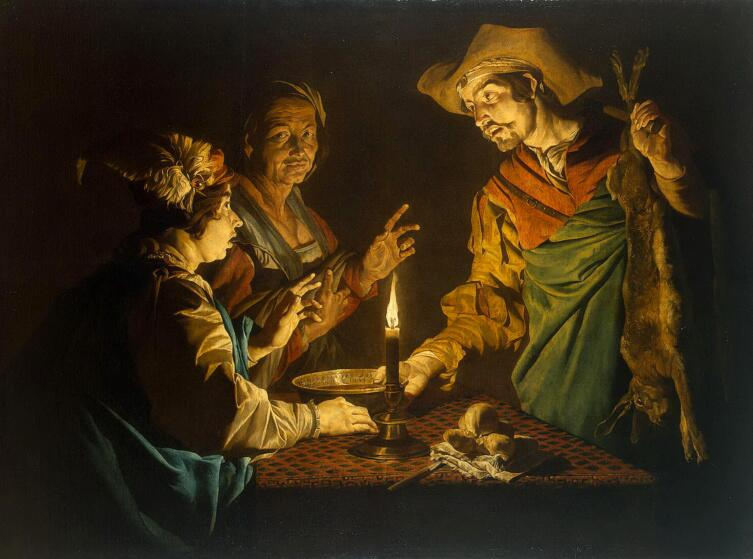 Маттиас Стомер, «Иаков и Исав»