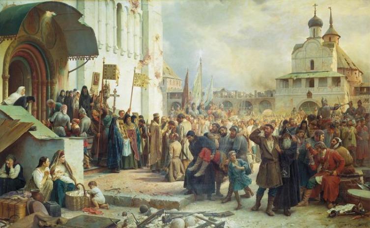 Василий Верещагин «Осада Троице-Сергиевой лавры», Государственный Русский музей