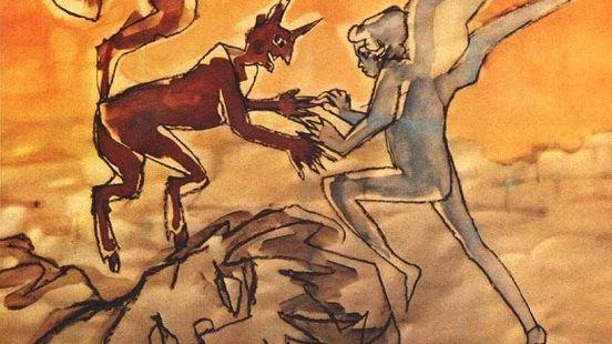 Рисунок с постера фильма «Аккаттоне», 1961 г.