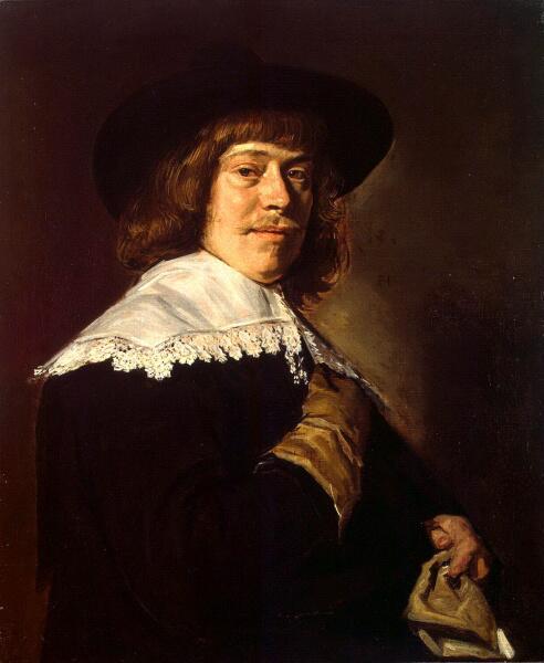 Франс Халс, «Портрет молодого человека с перчаткой в руке», ок. 1650г. Из коллекции Гоцковского