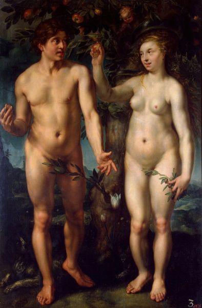 Хендрик Голциус, «Адам и Ева», 1608г. Из коллекции Гоцковского