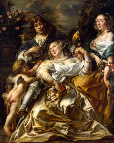 Якоб Йорданс, «Аллегорический семейный портрет», начало 1650-х гг. Из коллекции Гоцковского