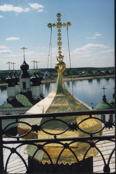 Очарование Великого Устюга: маковка Успенского собора и храм Прокопия